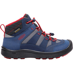 Keen Youth Hikeport Mid WP Shoes Dress Blues/Firey Red